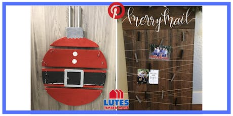 Pinterest Night at Lutes: Wood Ornament Door Hanger OR Merry Mail tickets
