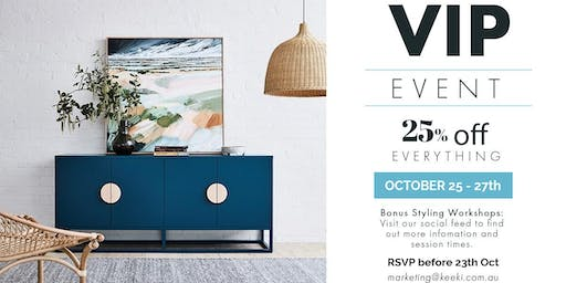 keekï VIP Event | Furniture, Homeware, Lighting, Bedding, Dining & More
