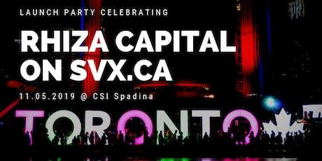 Rhiza Capital's Launch on the SVX! tickets