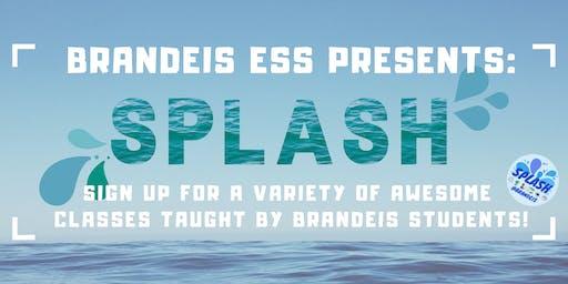 Splash @Brandeis