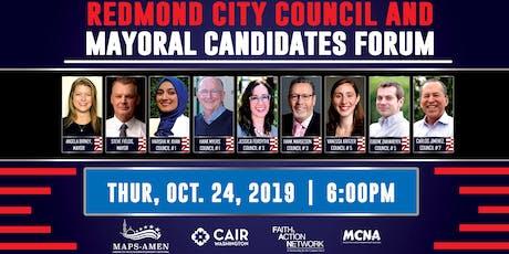 Redmond City Council & Mayoral Candidates Forum tickets