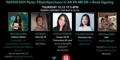 FASTER End of the Year Party: FilipinXperience AR VR MR XR