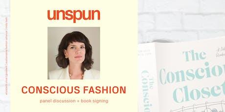 elizabeth cline x unspun x sfa: conscious fashion panel + book signing tickets