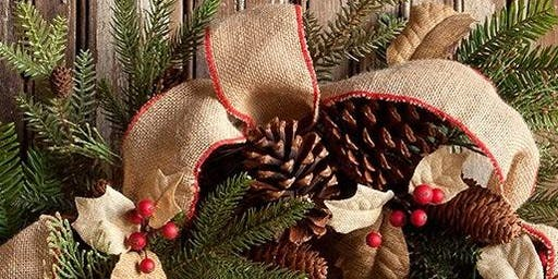 Winter Evergreen Wreath Decorating Workshop