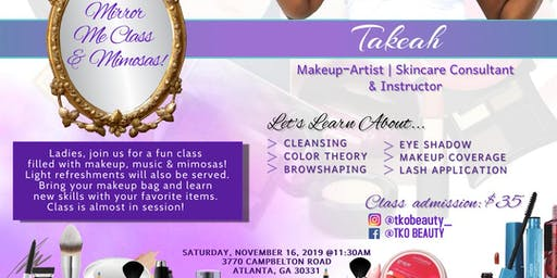 MirrorMe Makeup and Mimosas Class