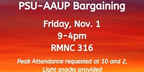 PSU-AAUP Bargaining - November 1 tickets