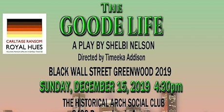 MEET US ON BLACK WALL STREET. GREENWOOD 2019 tickets