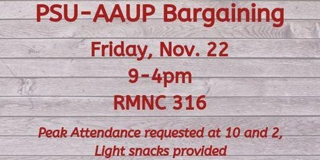 PSU-AAUP Bargaining - November 22 tickets