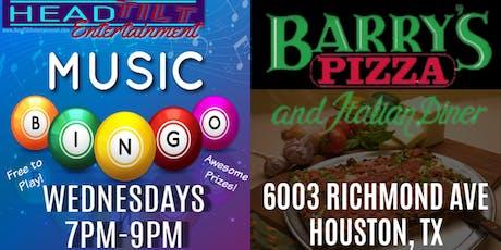 Music Bingo at Barry's Pizza & Italian Diner - Houston, TX tickets