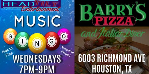 Music Bingo at Barry's Pizza & Italian Diner - Houston, TX