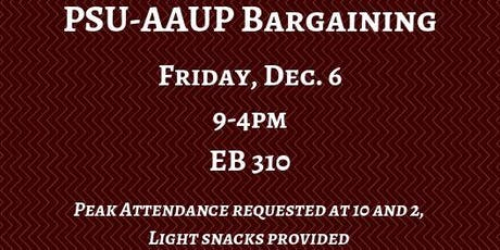PSU-AAUP Bargaining - December 6 tickets