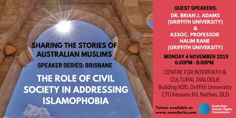 Speaker Series: The role of Civil Society in addressing Islamophobia tickets