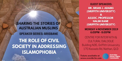 Speaker Series: The role of Civil Society in addressing Islamophobia