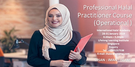 Professional Halal Practitioner Course (Operational) tickets
