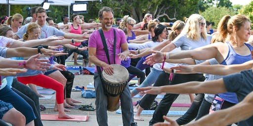 Harmonize & Refresh with a Gentle Yoga Flow and LIVE Rythmic Drums