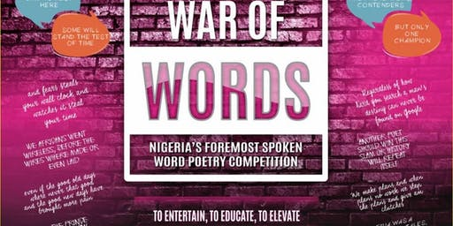 War Of Words Season 8 - Nigeria's Foremost Spoken Word Poetry Competition