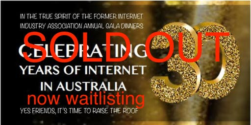 Gala Dinner – Celebrating 30 Years of the Internet in Australia!