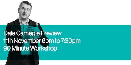 Dale Carnegie Program Preview - Workshop tickets