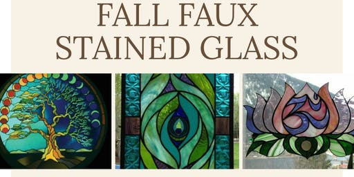 Fall Faux Stained Glass Series