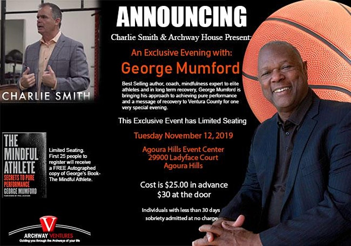 Charlie Smith Invites you to an Exclusive Evening with George Mumford image