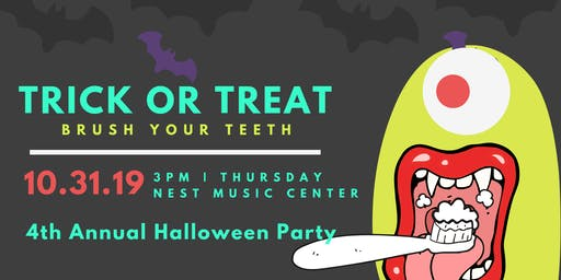 Trick or treat brush your teeth
