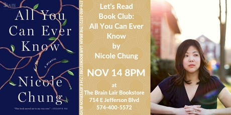 Let's Read Book Club - All You Can Ever Know by Nicole Chung tickets