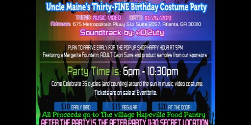 Uncle Maine's Thirty FINE Birthday COSTUME PARTY. A Philanthropic Party Event.
