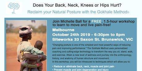 Free Workshop!  Does Your Back Still Hurt? (Neck, Shoulders, Knees??...)  tickets