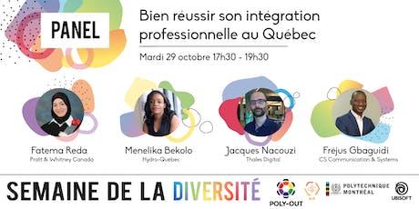 Panel - Bien réussir son intégration professionnelle au Québec billets
