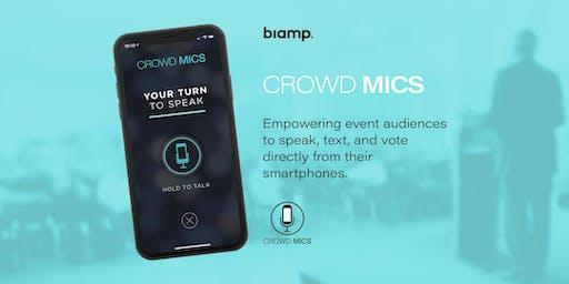 Biamp Crowd Mics Showcase