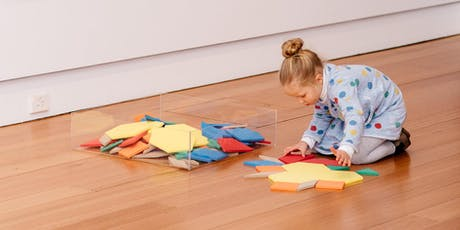 Eye spy art adventures for wee ones—colour and shape tickets