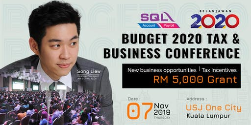 Budget 2020 Tax & Business Conference - KL @ USJ One City