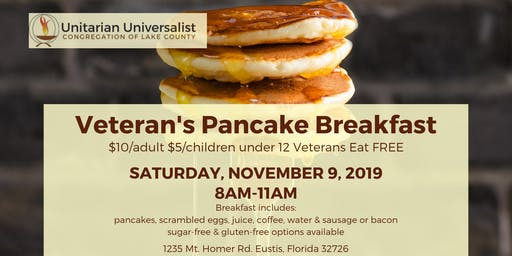 Unitarian Universalist Congregation Veterans Pancake Breakfast