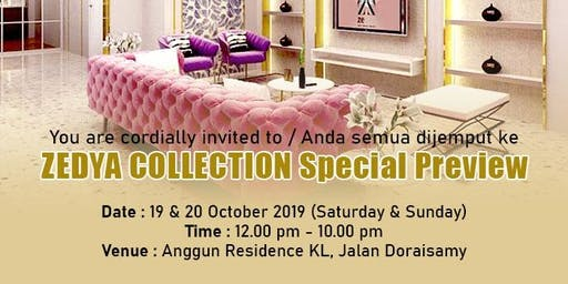 ZEDYA COLLECTION SPECIAL PREVIEW