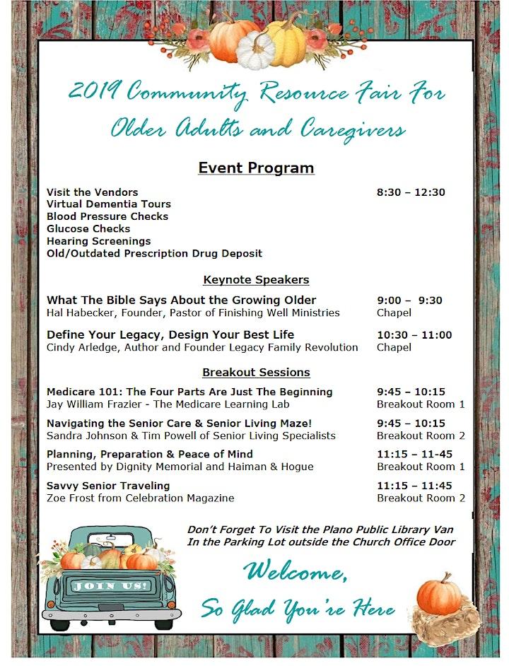 2019 Senior Resource Fair For Senior Adults & Caregivers | Plano | RSVP image