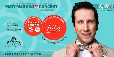 Matt Mardini en concert billets