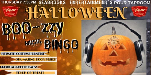 SEABROOKS' BOO-ZY BINGO AND COSTUME INSANITY. POUR TAPROOM. DOG FRIENDLY