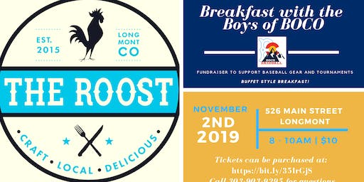 BOCO's THE ROOST Breakfast