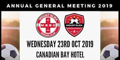 Mount Eliza Soccer Club 2019 AGM