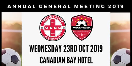 Mount Eliza Soccer Club 2019 AGM