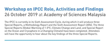 IPCC Findings @ ASM tickets