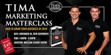 TIMA Marketing Masterclass tickets