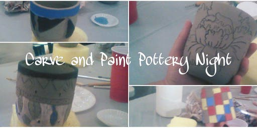 Carve and Paint Pottery - Holiday Ornaments