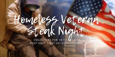 Homeless Veteran Steak Night tickets