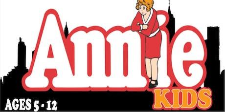 ANNIE KIDS Monday, December 2nd 6:00pm tickets