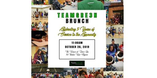 TeamGRE3N 5th Year Celebration and Fundraiser Brunch