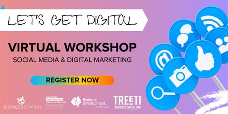 Let's Get Digital - Networking Online presented by Sharron Attwood tickets