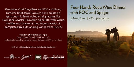 Four Hands Roda Wine Dinner