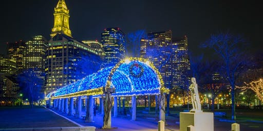 Hunt's Photo Walk: Postcard Series- Holiday Lights at Christopher Columbus Park