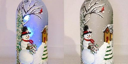 Holiday Wine Bottle Painting Class
